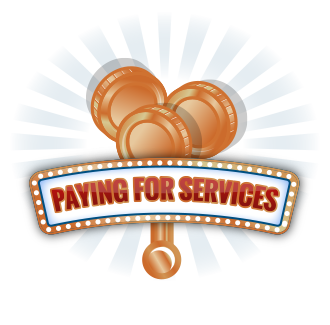 Paying and tipping for services in Las Vegas.